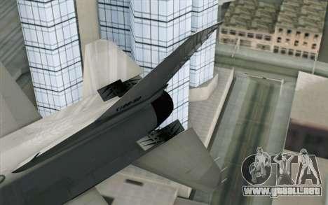 Mitsubishi F-2 Blue JASDF Skin para GTA San Andreas vista posterior izquierda