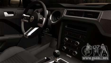 Ford Mustang Boss 302 2013 para la visión correcta GTA San Andreas