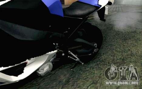 BMW S1000RR HP4 v2 Blue para GTA San Andreas vista hacia atrás