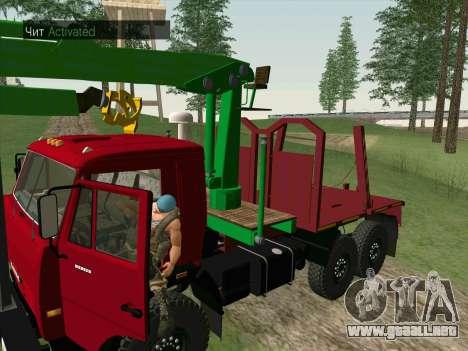 KamAZ 44108 Madera para visión interna GTA San Andreas