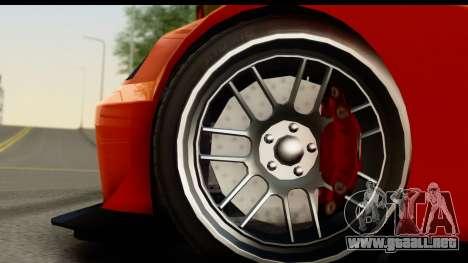 GTA 5 Benefactor Feltzer para GTA San Andreas vista hacia atrás