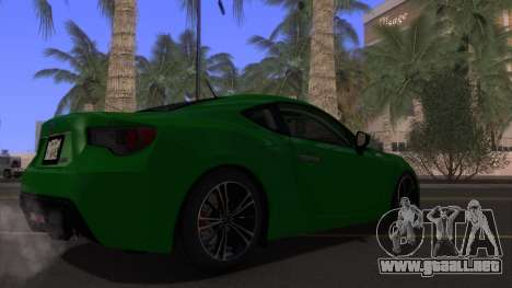 Scion FR-S 2013 Stock v2.0 para la vista superior GTA San Andreas