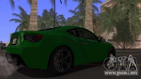Scion FR-S 2013 Stock v2.0 para la vista superior GTA San Andreas