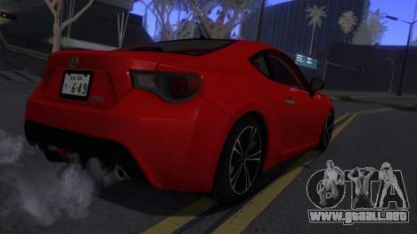 Scion FR-S 2013 Stock v2.0 para la visión correcta GTA San Andreas