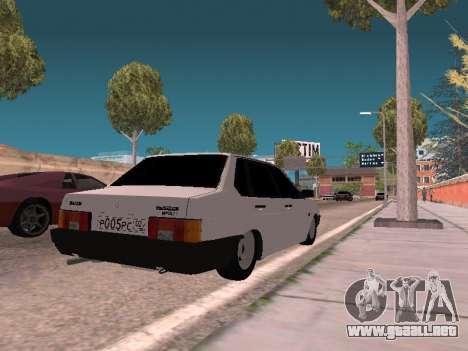VAZ 21099 para GTA San Andreas vista posterior izquierda