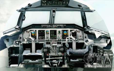 Embraer EMB-175 LOT Polish Airlines 600th E-Jet para GTA San Andreas vista hacia atrás