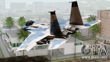 F-15E Artic Blue para GTA San Andreas left