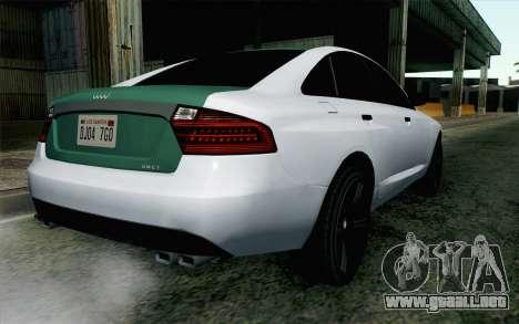 GTA 5 Obey Tailgater v2 IVF para GTA San Andreas left