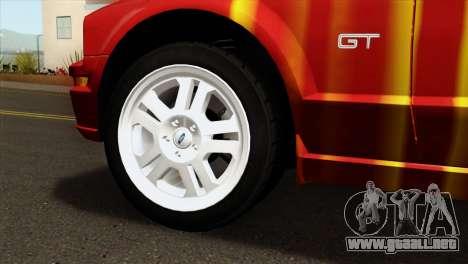 Ford Mustang GT PJ para GTA San Andreas vista posterior izquierda