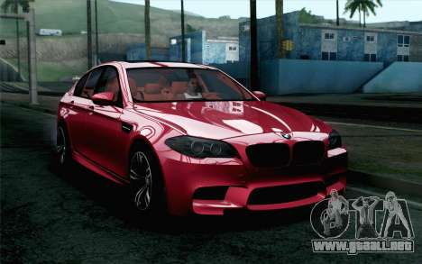 BMW M5 F10 2012 Stock para GTA San Andreas