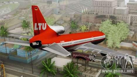 Lookheed L-1011 LTU Intl para GTA San Andreas left