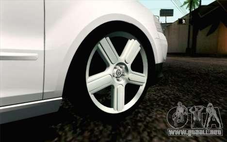 Volkswagen Fox para GTA San Andreas vista posterior izquierda