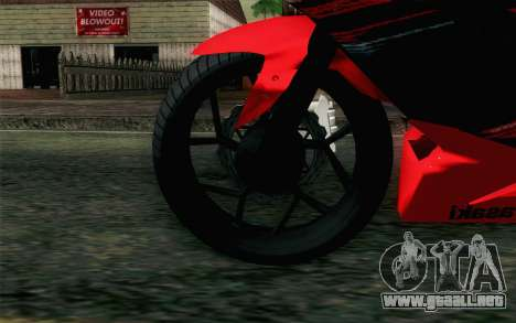 Kawasaki Ninja 250RR Mono Red para GTA San Andreas vista posterior izquierda