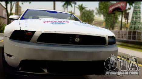 Ford Mustang 2010 Cobra Jet para GTA San Andreas vista posterior izquierda