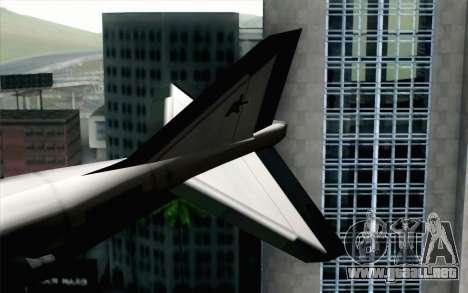 Hydra ADFX-02 Pixy para GTA San Andreas vista posterior izquierda
