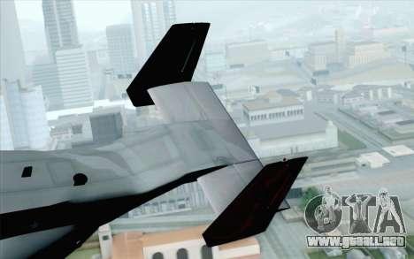 MV-22 Osprey VMM-265 Dragons para GTA San Andreas vista posterior izquierda