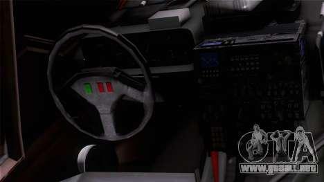 Shuttle v1 (wheels) para GTA San Andreas vista hacia atrás