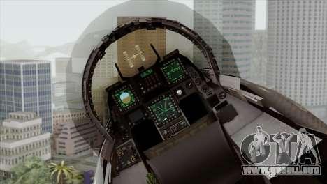 F-16C Block 52 para GTA San Andreas vista hacia atrás
