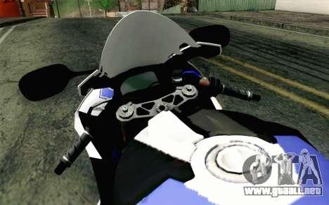 BMW S1000RR HP4 v2 Blue para la visión correcta GTA San Andreas