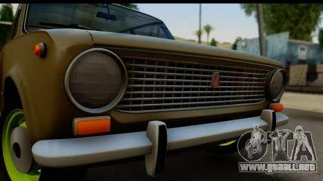 VAZ 2101 Stock v3.2 para GTA San Andreas vista posterior izquierda