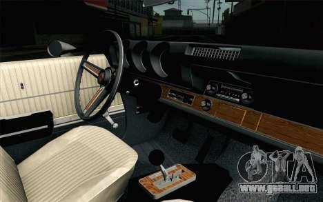 Oldsmobile 442 de Vacaciones Coupe 1969 FIV АПП para la visión correcta GTA San Andreas