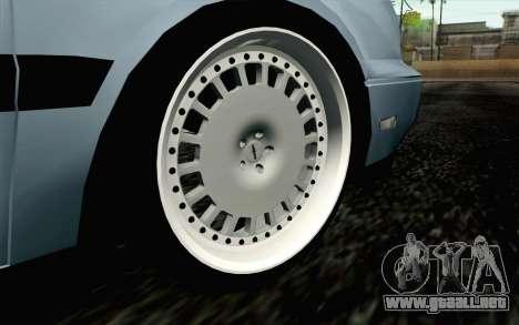 Volkswagen Golf Mk3 Eurolook para GTA San Andreas vista posterior izquierda