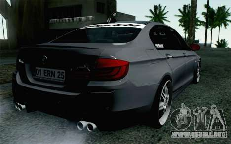 BMW 535i 2011 para GTA San Andreas left