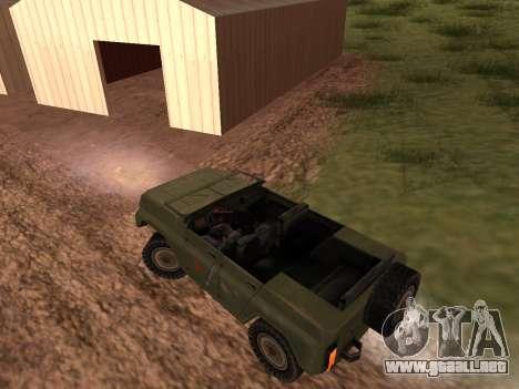 UAZ militar para la visión correcta GTA San Andreas