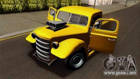 GTA 5 Bravado Rat-Truck para GTA San Andreas vista hacia atrás