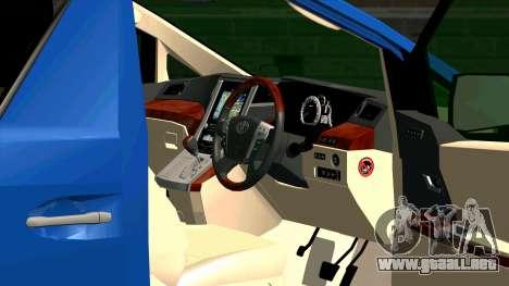 Toyota Alphard 350G para visión interna GTA San Andreas