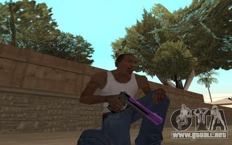 Purple Weapon Pack by Cr1meful para GTA San Andreas segunda pantalla