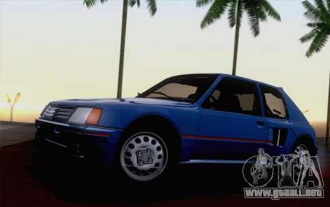 Peugeot 205 Turbo 16 1984 [HQLM] para visión interna GTA San Andreas