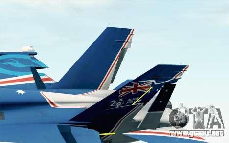 F-18D RAAF 20th Anniversary para GTA San Andreas vista posterior izquierda