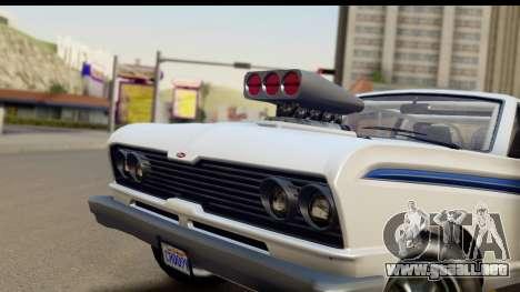 GTA 5 Vapid Blade v2 IVF para GTA San Andreas vista posterior izquierda