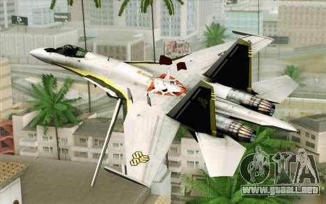 Sukhoi SU-27 Macross Frontier para GTA San Andreas left