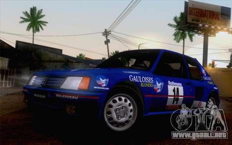Peugeot 205 Turbo 16 1984 [HQLM] para la visión correcta GTA San Andreas