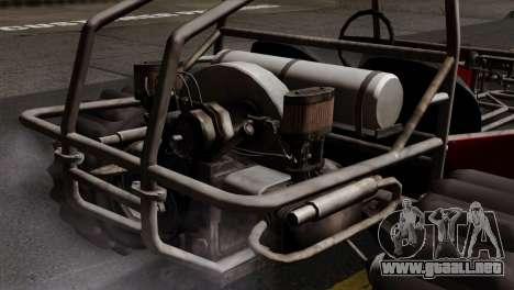 GTA 5 Dune Buggy SA Mobile para GTA San Andreas vista posterior izquierda