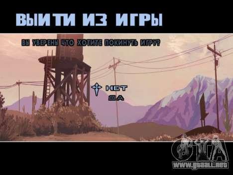 Menú HD para GTA San Andreas séptima pantalla