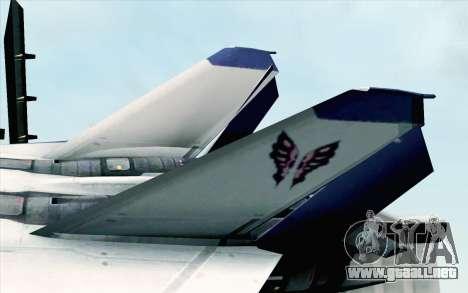CFA-44 Butterfly Master para GTA San Andreas vista posterior izquierda