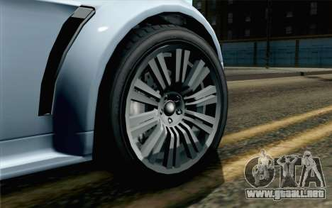GTA 5 Dewbauchee Exemplar IVF para GTA San Andreas vista posterior izquierda