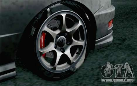 Acura Integra Type R 2001 Stock para GTA San Andreas vista posterior izquierda