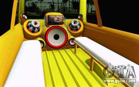 Daihatsu Espass Angkot YRT para visión interna GTA San Andreas