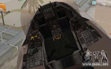 F-16 Fighting Falcon RNoAF para la visión correcta GTA San Andreas