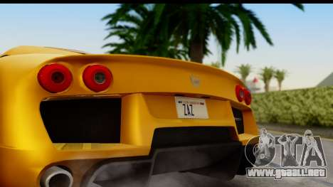 Noble M600 2010 HQLM para la visión correcta GTA San Andreas