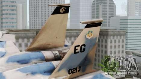 F-15E Artic Blue para GTA San Andreas vista posterior izquierda
