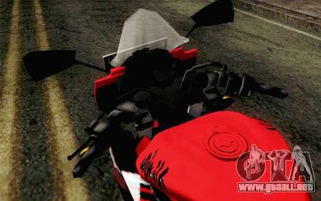 Kawasaki Ninja 250RR Mono Red para GTA San Andreas vista hacia atrás