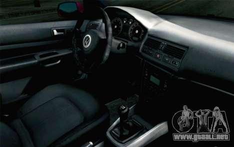 Volkswagen Golf v5 Stock para la visión correcta GTA San Andreas