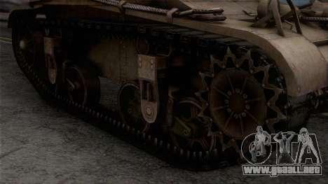 M2 Light Tank para la visión correcta GTA San Andreas