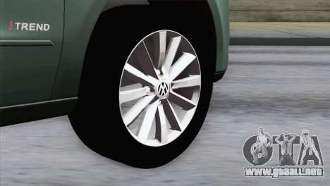 Volkswagen Golf Trend para GTA San Andreas vista posterior izquierda