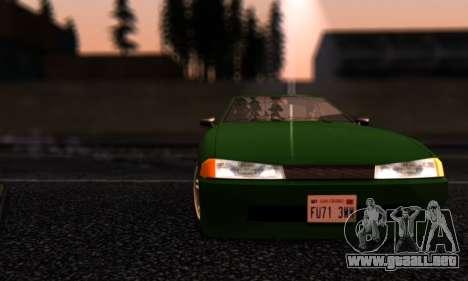 Elegy I Love GS v1.0 para vista lateral GTA San Andreas